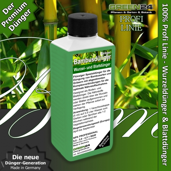 Bamboo Liquid Fertilizer for bamboos and grasses 250ml