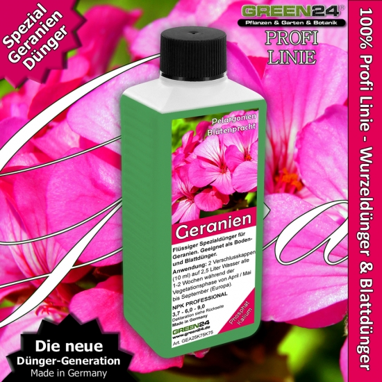 Pelargonium Geraniums Liquid Fertilizer 250ml