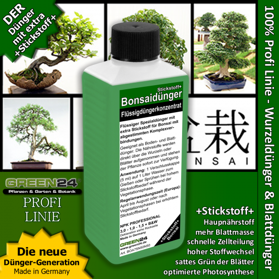 Bonsai Nitrogen+ Feed - Liquid Fertilizer 250ml