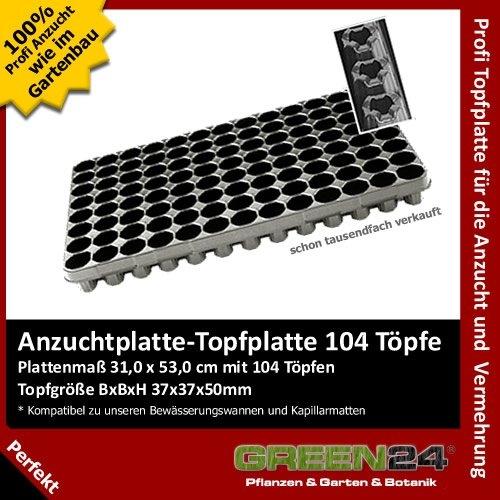 Anzuchtplatte Topfplatte 103 Töpfe Aussaat Multitopf Multitopfplatte Untersetzer
