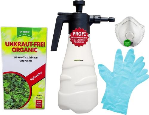 Unkraut-Frei Organic 1 Liter - Profi Set
