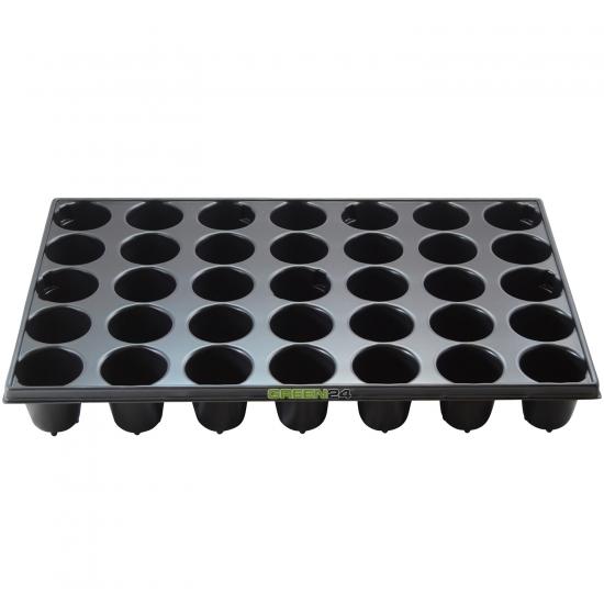QP 35R STP Anzuchtplatte Topfplatte (33,5 x 51,5 cm) (Typ STP) 35 runde Töpfe DxH 60x65mm stabile Profi Multitopf-Platte
