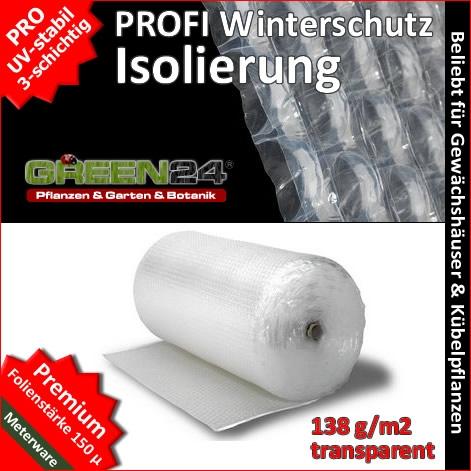 Profi Winterschutz Isolierfolie je Meter - Luftpolsterfolie Noppenfolie zum Winterschutz für Gewächshaus & Pflanzen