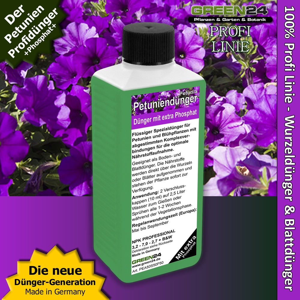 petunien d nger mit extra phosphat 250ml. Black Bedroom Furniture Sets. Home Design Ideas