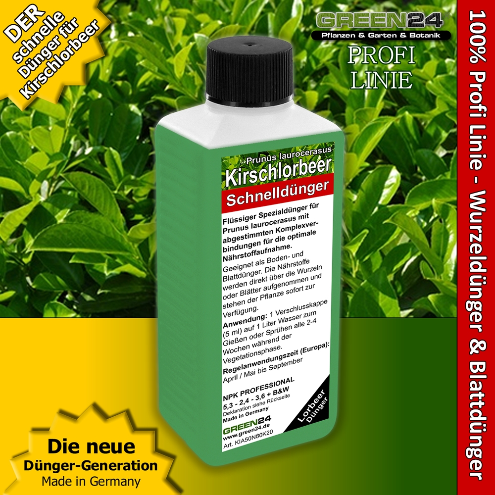 kirschlorbeer d nger lorbeer prunus laurocerasus 250ml. Black Bedroom Furniture Sets. Home Design Ideas