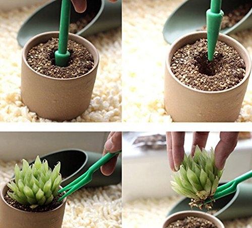 2 Pikiersets aus Pikierstab und Setzstab für Sämlinge Jungpflanzen  Saatgut