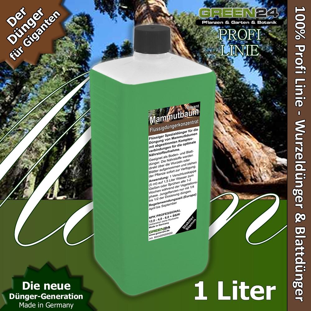 mammutbaum dünger sequoiadendron xl 1 liter