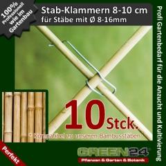 Bambus Rankgerüst Klammern 8-16mm 10 St