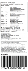 PawPaw Liquid Fertilizer for Asimina triloba, The Pawpaw, Paw Paw, Paw-Paw, Common Pawpaw 250ml