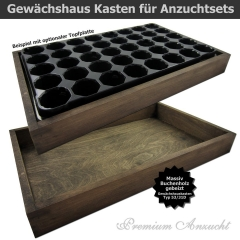 Gewächshaus Style-Box Dunkelbraun
