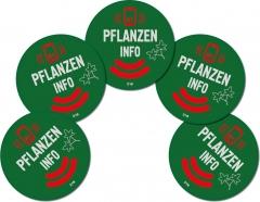 5 NFC Pflanzen Sticker Aufkleber NTAG216