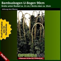 Bambus U-Bogen, Bambusstab gebogen 90cm