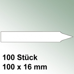 100 große Steck Etiketten aus Kunststoff