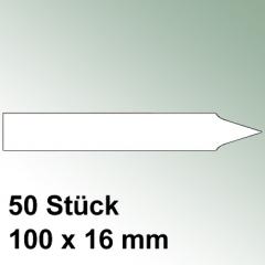 50 große Steck Etiketten aus Kunststoff
