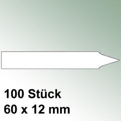 100 kleine Steck Etiketten Kunststoff