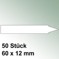 50 kleine Steck Etiketten Kunststoff
