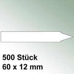 500 kleine Steck Etiketten Kunststoff