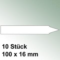 10 große Steck Etiketten aus Kunststoff