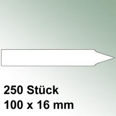 250 große Steck Etiketten aus Kunststoff