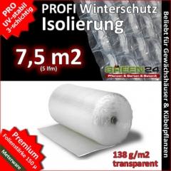 Noppenfolie Luftpolsterfolie 5m (7,5m2) GREEN24 PRO3 Frostschutz, Windschutz und Winterschutz, Isolierung und Wärmeschutz für Haus und Garten