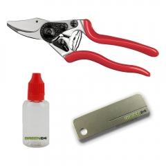 FELCO STARTER-DAMEN-SET für kleinere Handgrößen - Felco-Schere, Pflege-Öl und Schleif-Stein für den sofortigen Start