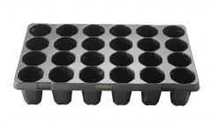 Anzuchtplatte Topfplatte 24/10R | 24 Töpfe extra hoch (53,0 x 31,0 cm) (Typ G24)