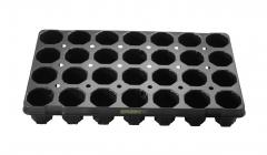 Anzuchtplatte Topfplatte 28/6,5R | 28 Töpfe rund hoch (53,0 x 31,0 cm) (Typ G24)