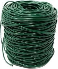 100 Meter Profi Hohlschnur Ø 3mm aus Kunststoff, grün, im praktischen Netz - Elastisches Bindematerial, Bindeschlauch zum Anbinden von Pflanzen